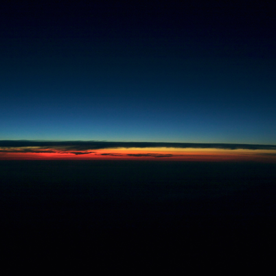Sunrise at 35,000 feet